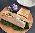 2017.2.28メカジキと新玉葱、クリームチーズのサンド