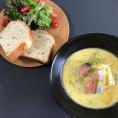 2017.3.21春野菜と鮭西京漬けのチーズシチュー