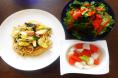 2017.3.9ほうれん草とかぶ菜のグリーンサラダ 根野菜のやさしいスープ 下仁田ねぎの和風ペペロンチーノ