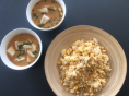 10.25スンドゥブスープと卵のシンプルチャーハン