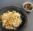 10.27茎ワカメのチャーハンと牡蠣の甘から煮